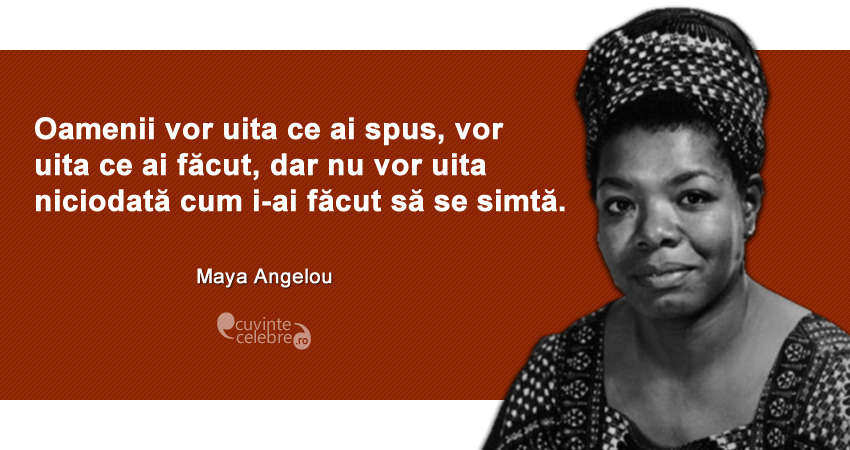 Maya Angelou despre marketing experiential